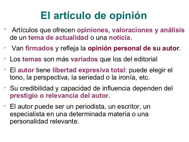 Ejemplos de artículos de opinión